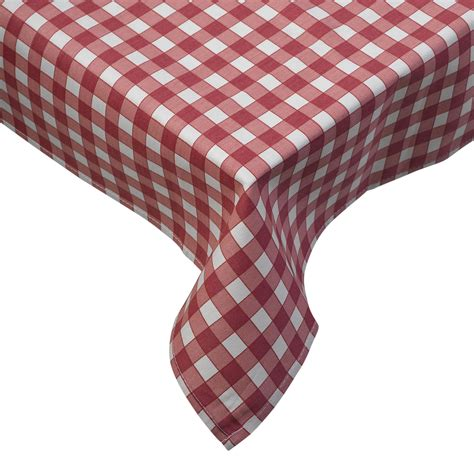 Tablecloth Traditional Gingham Check 100% Cotton Picnic