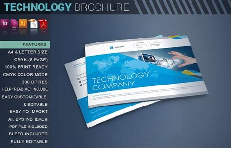technology brochures editable psd ai vector eps