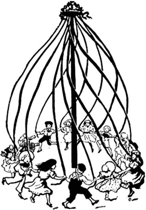 people maypole dance   day coloring pages  place  color