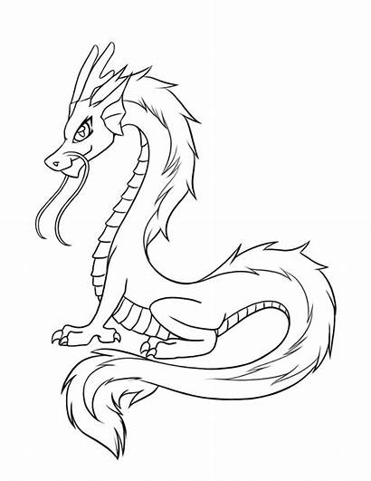 Dragon Chinese Outline Simple Coloring Pages Printable