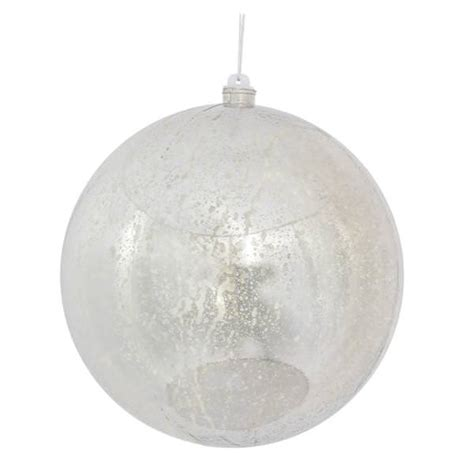 vickerman 399132 silver colored christmas tree ball ornament
