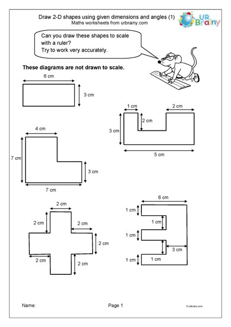 draw   shapes dimensions  angle  geometry