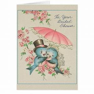 Vintage bridal shower greeting card zazzle for Wedding shower greeting cards