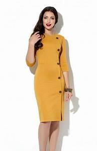 Vakuumtüten Für Kleidung : senf office kleid herbst fr hjahr jerseykleid business frau kleidung freizeitkleidung f r damen ~ Markanthonyermac.com Haus und Dekorationen
