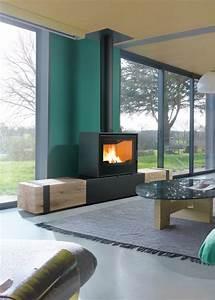 Cheminée Bois Design : po les bois banquette bois chemin es axis ~ Premium-room.com Idées de Décoration