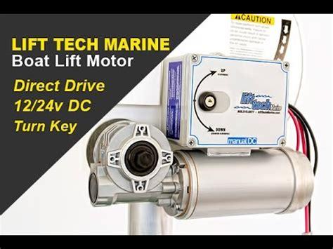 lift tech marine 12v dc direct drive boat lift motor