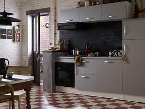 amenagement d39une petite cuisine grise tendance With couleur de maison tendance exterieur 8 amenagement optimise et deco pour ma cuisine ouverte