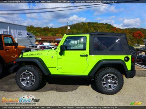 green jeep rubicon gecko green 2013 jeep wrangler rubicon 4x4 photo 2