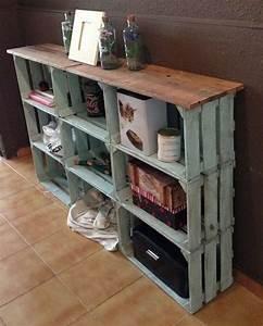 Caisse Bois Vin : diy idee bureau pinterest vieilles caisses en bois ~ Carolinahurricanesstore.com Idées de Décoration
