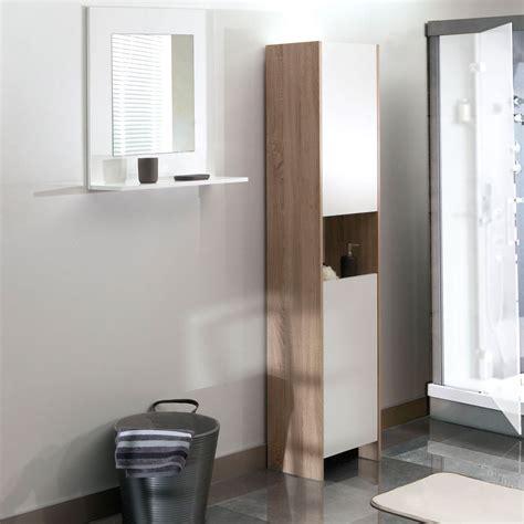 colonne salle de bain but colonne salle de bain 2 portes 1 niche ch 234 ne blanc 6200a0321a00 achat vente armoire