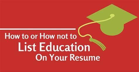 list education on resume ideas how to list education on