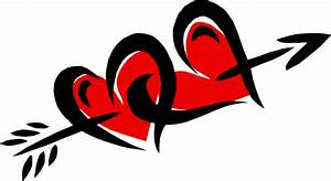 Arrow clipart heart - Pencil and in color arrow clipart heart