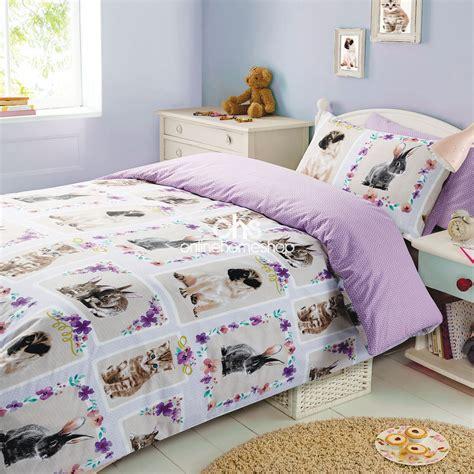 duvet cover with pillowcase bedding set pet love kitten