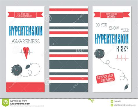 hypertension day set  banners stock vector