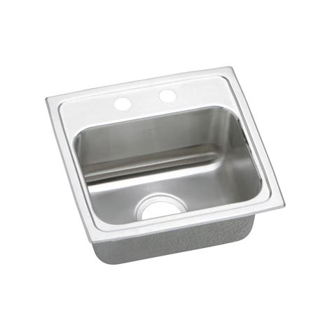 kitchen sink elkay elkay lustertone drop in stainless steel 17 in 2 2693