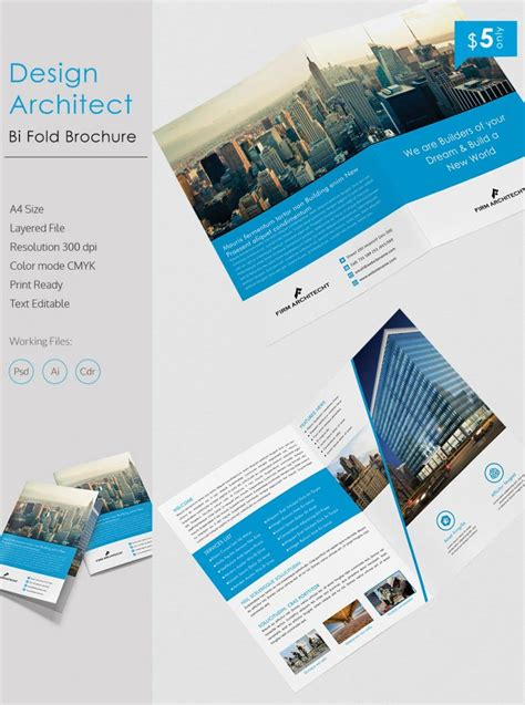creative design architect  bi fold brochure template