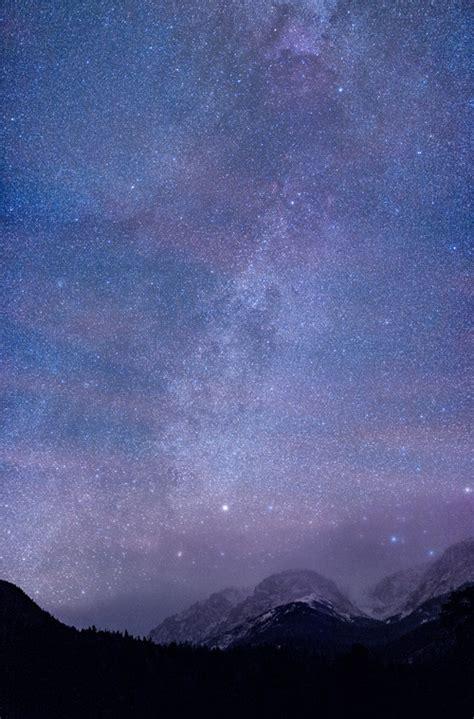 Sky Galaxy Stars Night Mountains Milky Way Andromeda