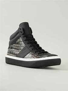 Jimmy choo Belgravia High-Top Sneakers in Black for Men | Lyst