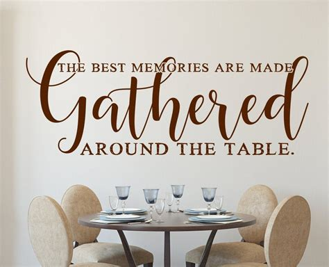 If so, is the mirror i posted the correct size (hung horizontal)? Gather wall decal, gather sign, dining room decal, dining room wall decor, the best memories ...