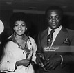 American actress Pam Grier with actor Yaphet Kotto at the ...