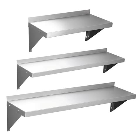 stainless wall shelf 600 900 1200mm stainless steel wall shelf with brackets