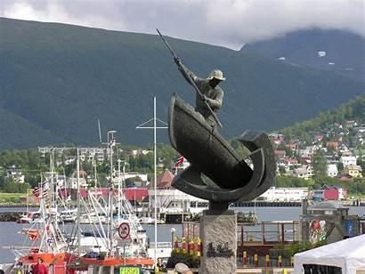 Tromso Norway Map Statue Google Norvege Statues