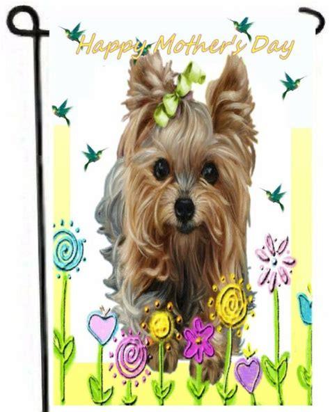 YORKIE painting GARDEN FLAG Dog Art Yorkshire Terrier ...