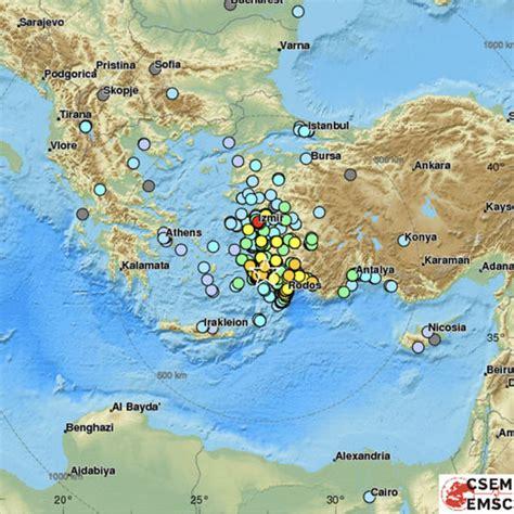 turkey  greece map earthquake mapped kos bodrum