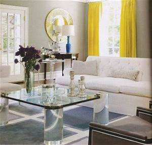 yellow curtains contemporary living room With yellow curtains grey walls