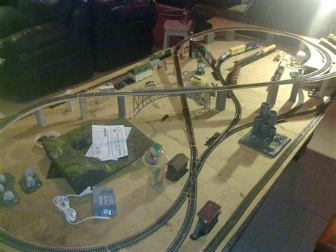 model train layouts   wife    decided