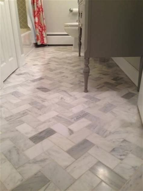 herringbone backsplash tile home depot jeffrey court carrara 3 in x 6 in x 8 mm honed marble