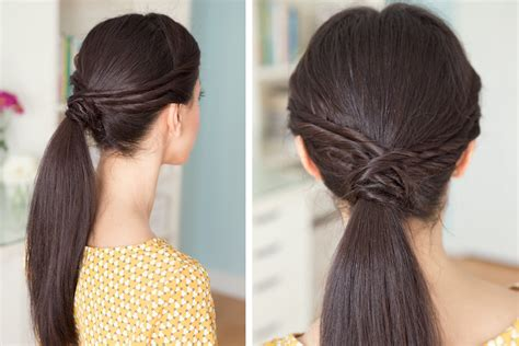 Triple Twisted Pony Tail Red Wine Hair Dye Color Best Way To Cut Your Own Short Medium Haircut Straight 2 How Style Curly Shoulder Length Curl Bob With Rollers Braid Ideas For Layered Braids And Flat Iron Messy Updos Long Easy