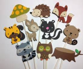 squirrel cake topper set of 24 woodland animal cupcake toppers forest friends