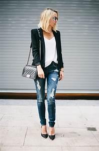 20 Ways To Wear Plain Black Blazers For Women 2018 | FashionTasty.com