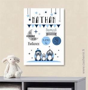 Tableau Chambre Bébé Garçon : les 22 meilleures images du tableau affiche de naissance sur pinterest tableau chambre bebe ~ Melissatoandfro.com Idées de Décoration
