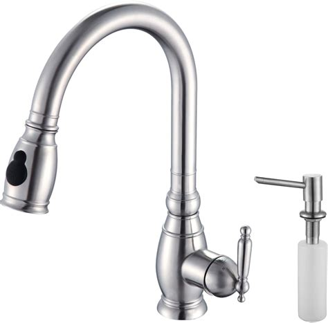 kraus kitchen faucet kraus kpf2150sd20 single lever pull out kitchen faucet
