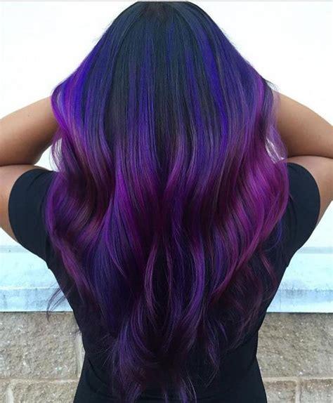 95 Purple Hair Color Highlights Lowlights For Dark