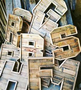 diy scrap wood letters pallets lumber reclaimed With pallet wood letters