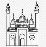 Mosque Drawings Coloring Masjid Line Pages Gambar Sketsa Drawing Sketches Google sketch template