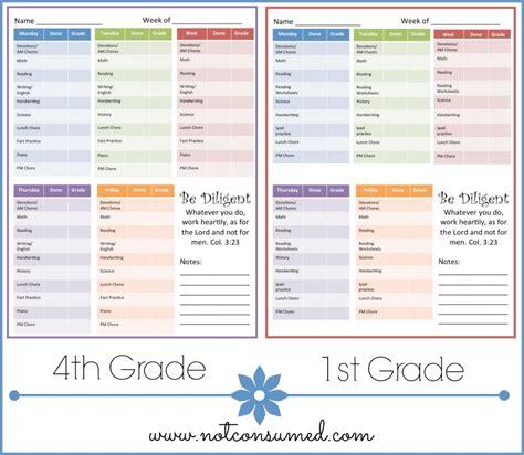 Homeschool Checklist Template by Morning Checklist Free Printable