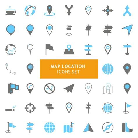 Free maps icons pack in various design styles for your ui design projects. Free Vector | Icons set about maps