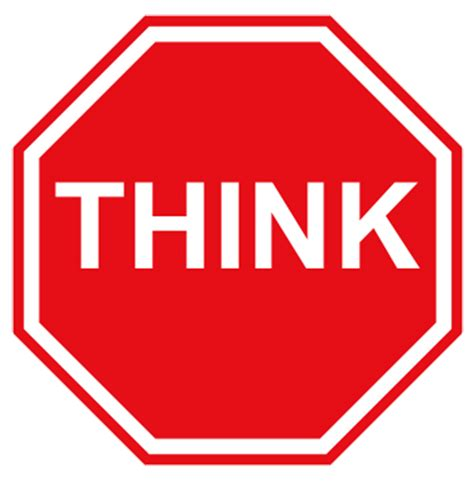 Stop To Think Before You Act  It Is How You Think