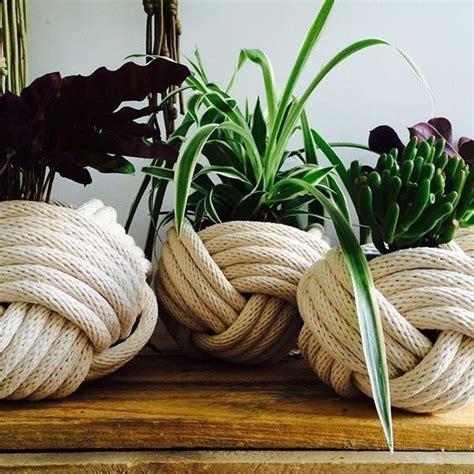 rope pot cover crafts basteln knoten naehen