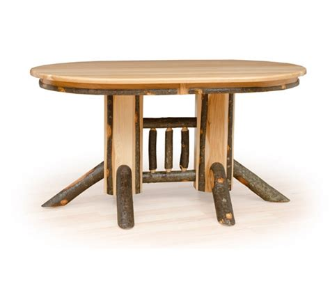 Rustic Double Pedestal Extension Table  Farmhouse And Cottage