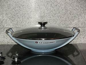 Wok Le Creuset : le creuset coastal blue cast iron 14 1 4 wok with lid 4 3 4 qt new in box eur 233 52 ~ Watch28wear.com Haus und Dekorationen