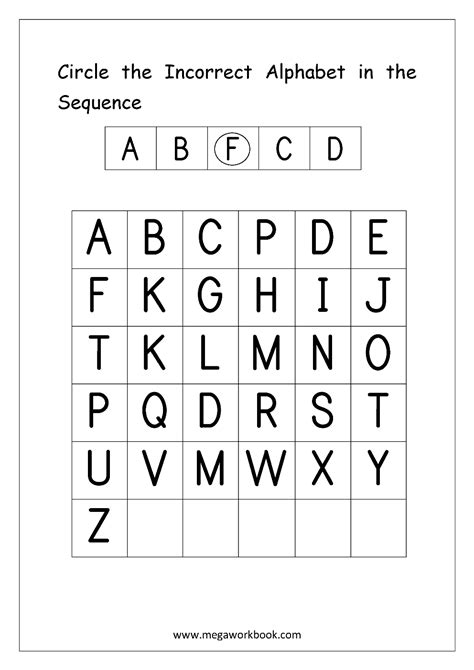 english worksheets alphabetical sequence