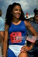 US Olympic Trials, Closeup of Florence Griffith Joyner with USA flag,... News Photo - Getty Images
