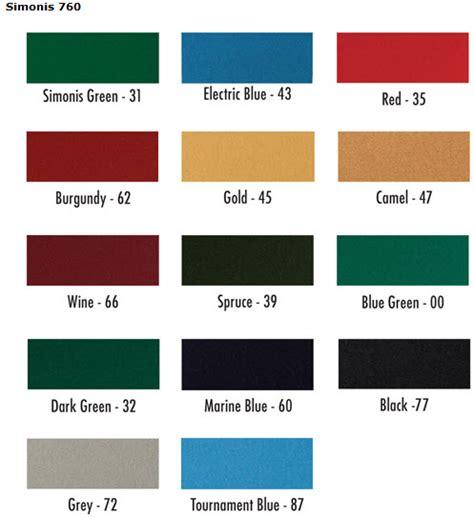 pool table cloth colors simonis billiard and pool table cloth