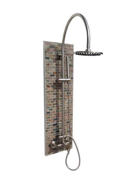 Solltile Brick Outdoor Shower Plus Portable Hot Water