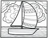 Coloring Sailboat Popular sketch template